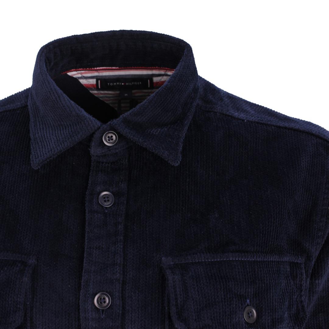 Tommy Hilfiger Herren Overshirt Hemd Jacke blau  MW0MW20458 DW5 Blue Desert Sky Corduroy