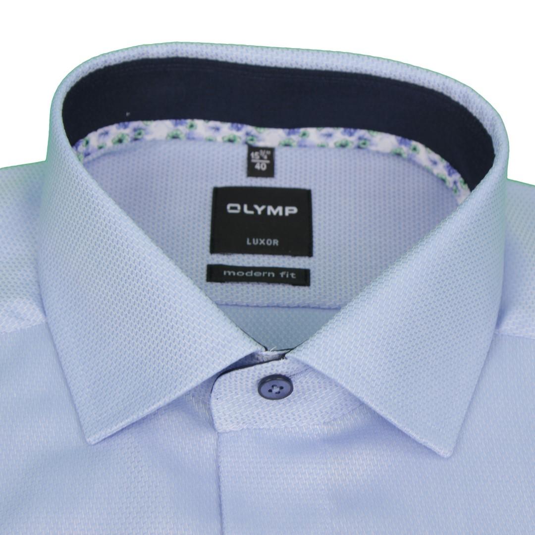 Olymp Herren Luxor Modern Fit Hemd blau unifarben 1208 54 11