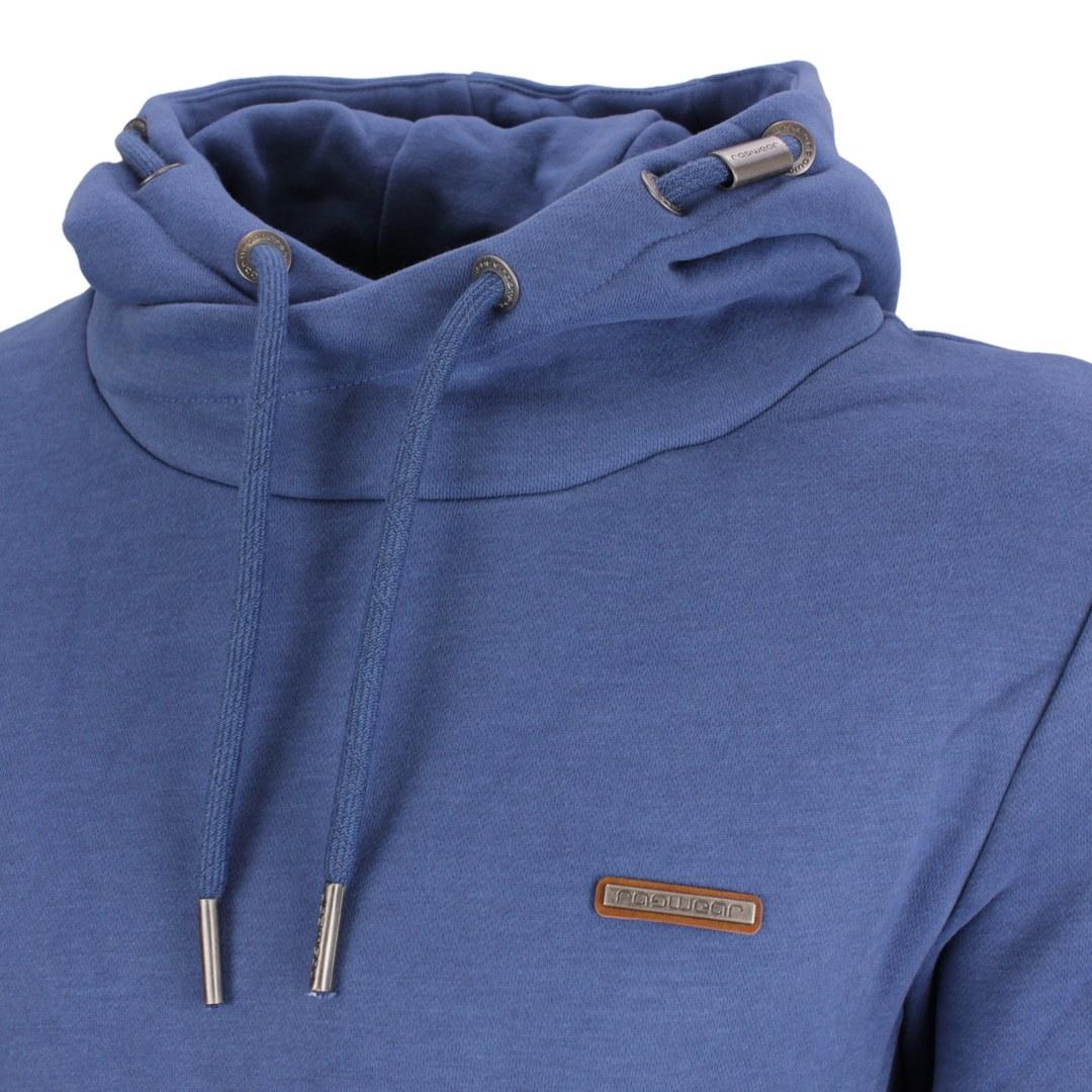 Ragwear Herren Sweat Shirt Kapuzenpullover Hoodie Nate blau 2122 30008 2040 Blue