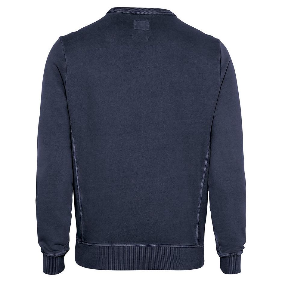 Camel active Herren Basic Sweat Shirt Sweatshirt marine blau unifarben 5F04 409347 49
