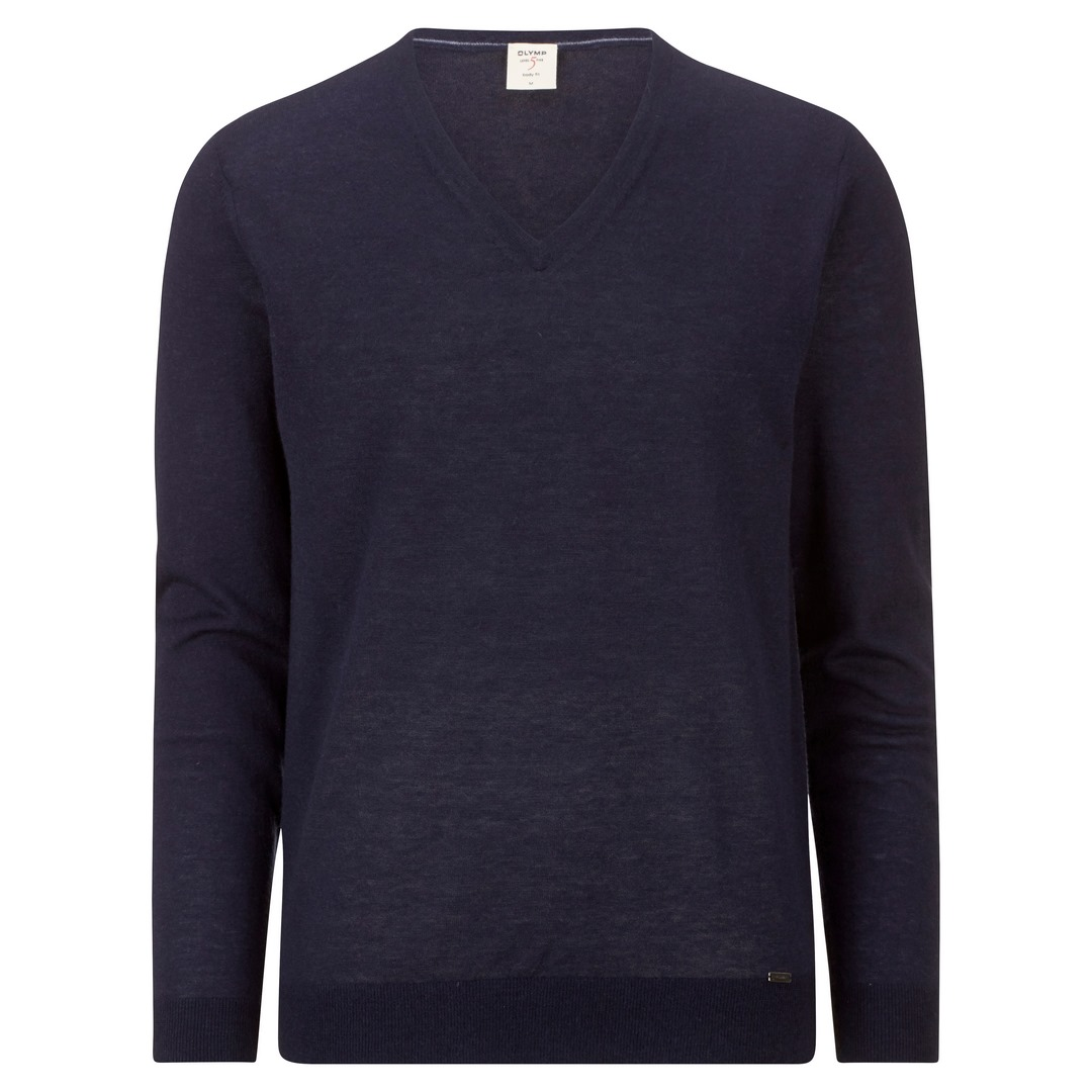 Olymp Strick Pullover Strickpullover Body Fit Level 5 marine blau 015110 18
