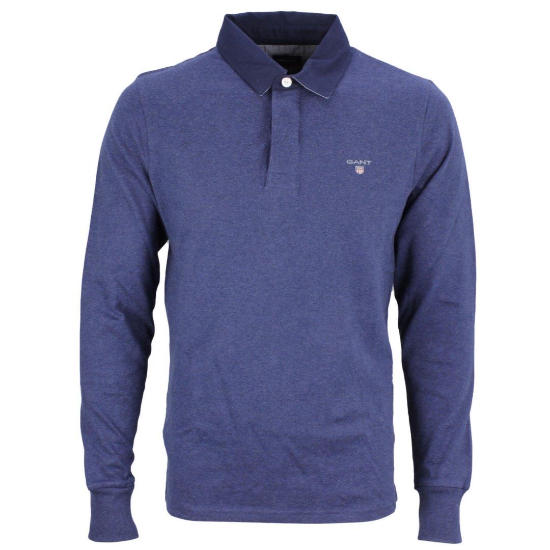 Gant Herren Rugby Shirt The original heavy Rugger blau unifarben 2005050 487