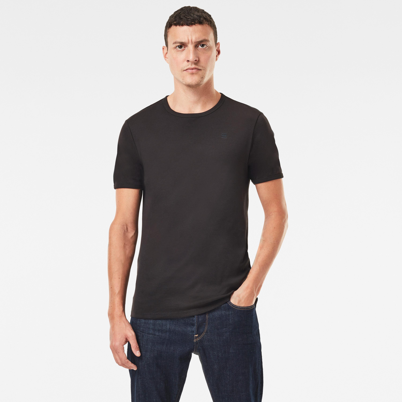 G-Star Raw Herren Round Neck Doppelpack Basic T-Shirt weiß schwarz D07205 124 1288