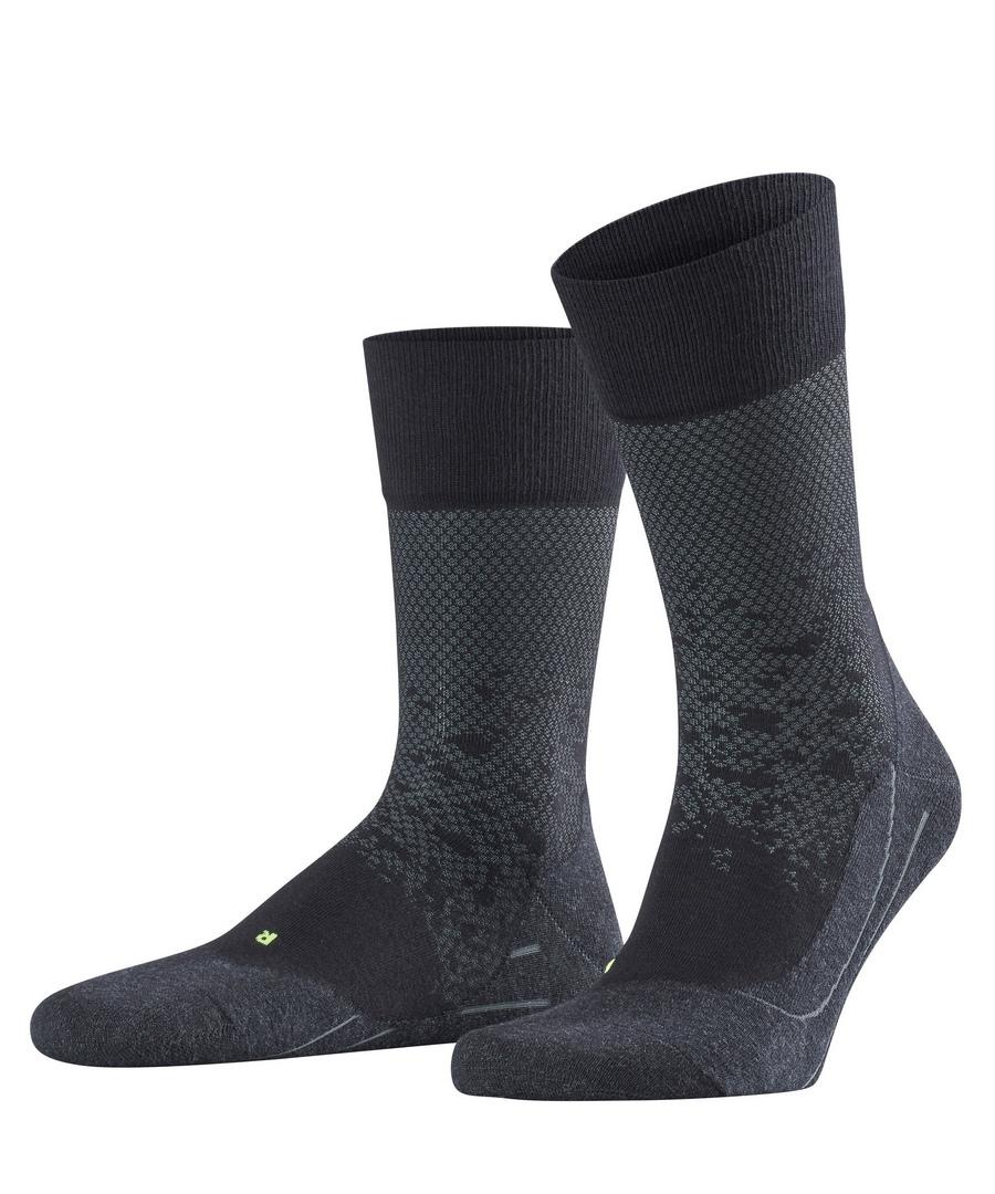 Falke Socke Sprayed Out grau schwarz 13398 3000 black