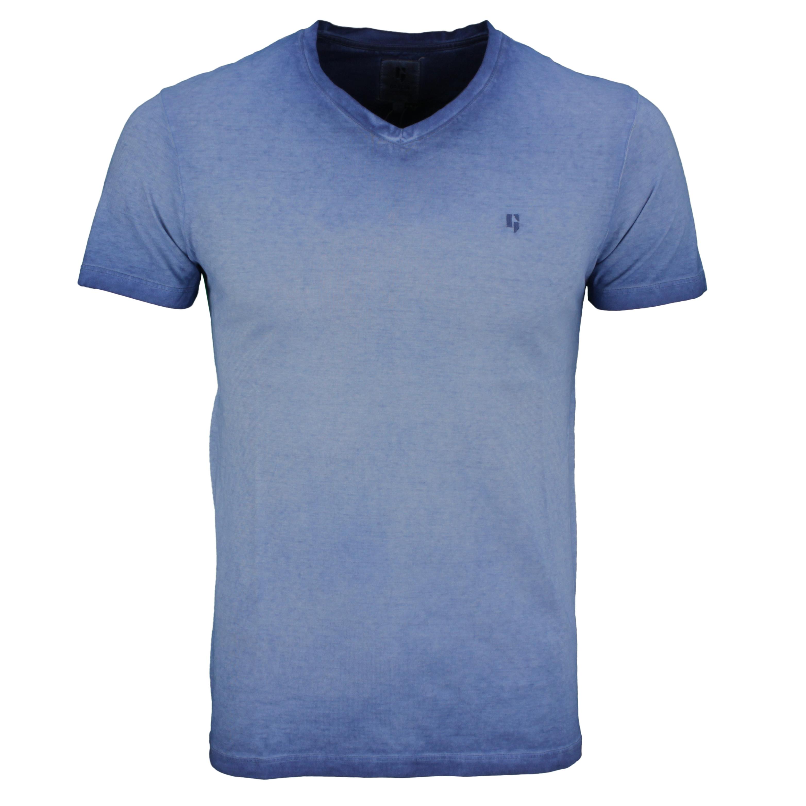 Garcia Herren T-Shirt Shirt kurzarm blau Used Look E11020 6632 imperial blue