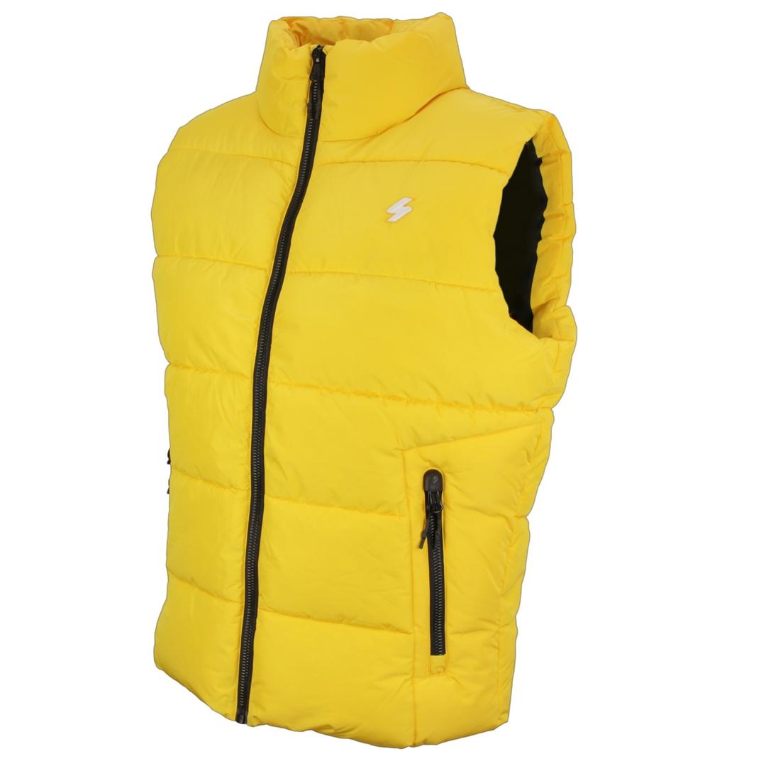 Superdry Herren Weste Steppweste gelb M5011156A NW1 nautical yellow Sports Puffer Gilet