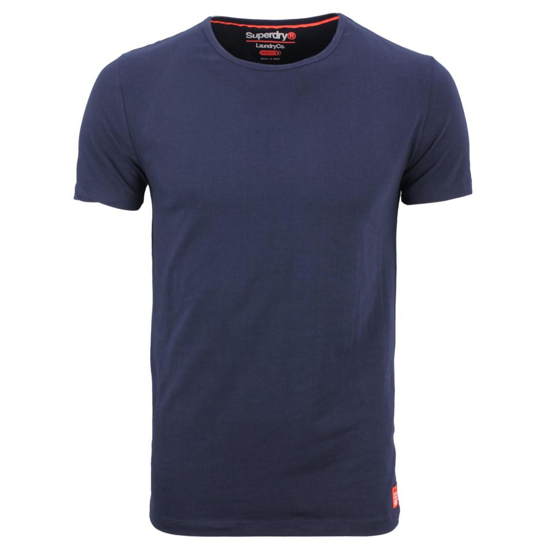 Superdry Basic T-Shirt Sdry Lndry Doppel Pack grau marine blau M31005NR ZY1