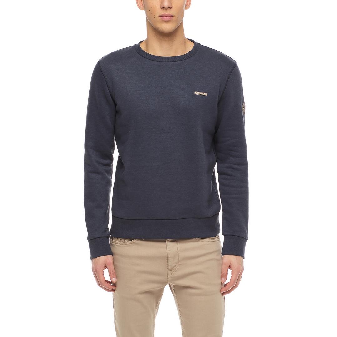 Ragwear Herren Sweatshirt Indie vegan blau unifarben 2122 30001 2028 Navy