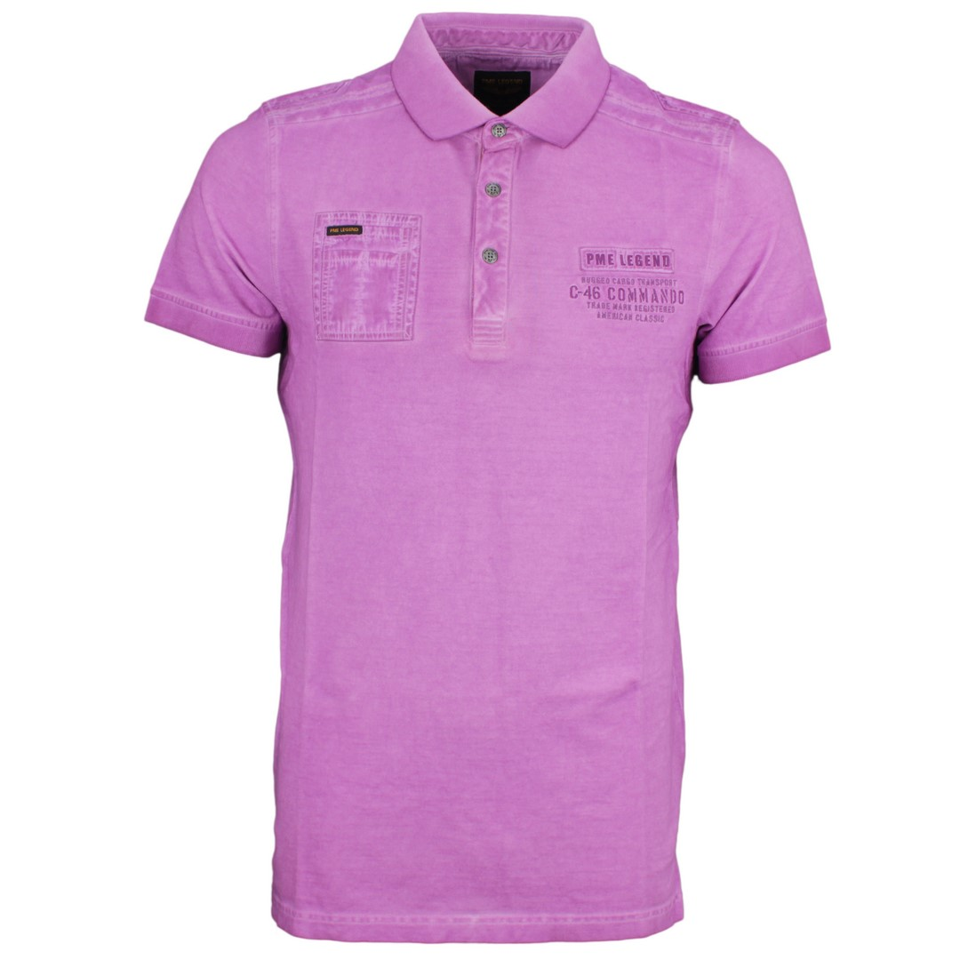 PME Legend Herren Polo Shirt lila unifarben Used Look PPSS194877 4325