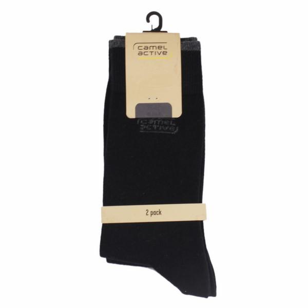 Camel active Socken Doppelpack in schwarz 6590 610