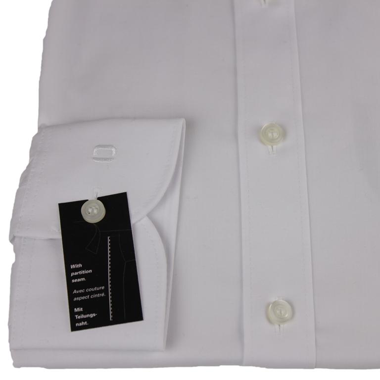 Olymp Body Fit Hemd Level 5 weiß unifarben Tailierungsnaht 706064 00