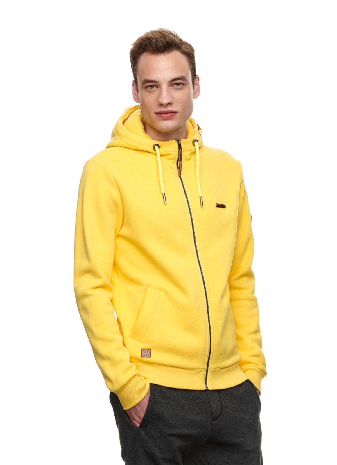 Ragwear Herren Sweat Jacke gelb unifarben Nate Zip 2112 30016 6028 Yellow