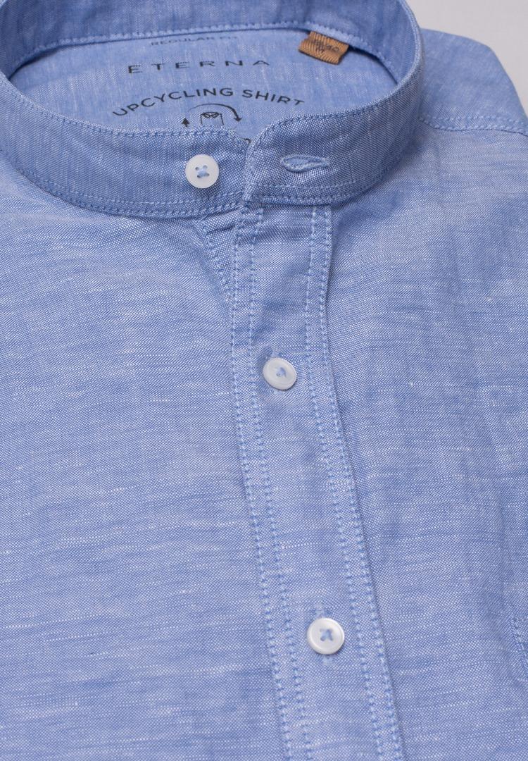 Eterna Leinen Hemd blau unifarben 2450 VS9S 14