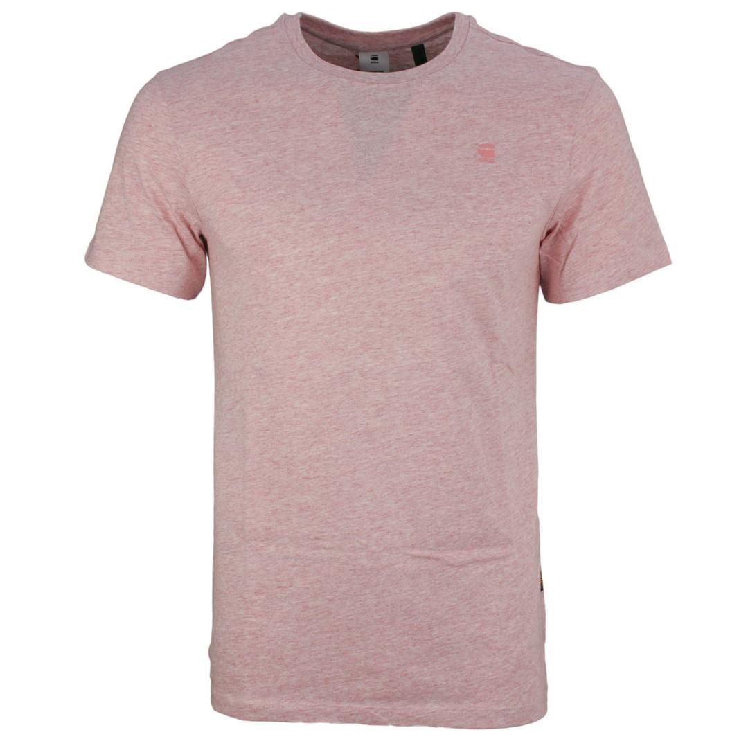 G-Star Raw Herren T-Shirt Base-S rosa unifarben D16411 336 B513