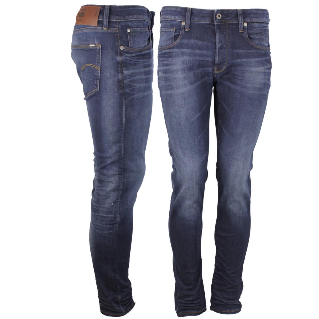G-Star Herren Jeans 3301 Slim Fit medium blau 51001 8968 9112 ultra dk aged