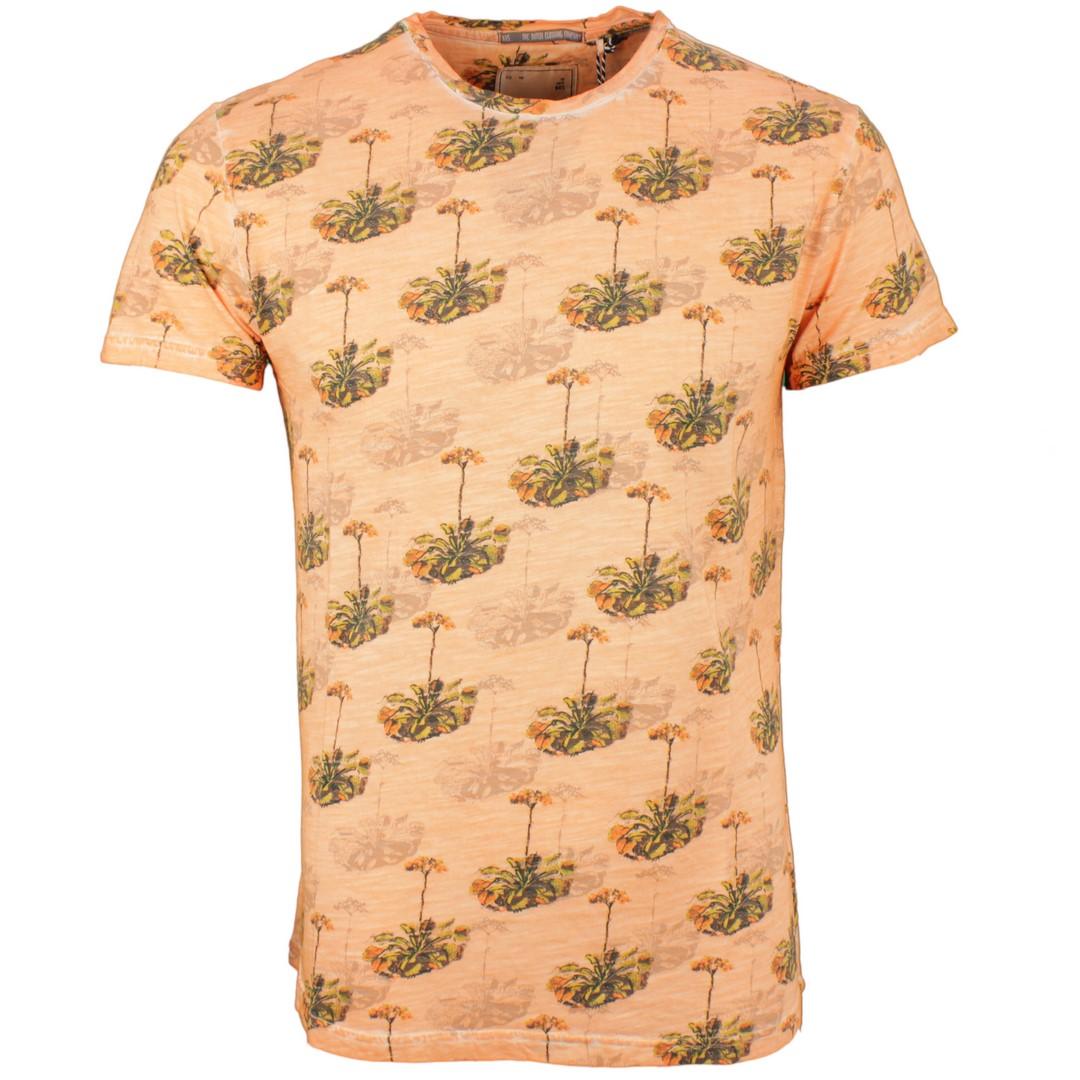 No Excess Herren T-Shirt mehrfarbig Florales Muster 91350431 091