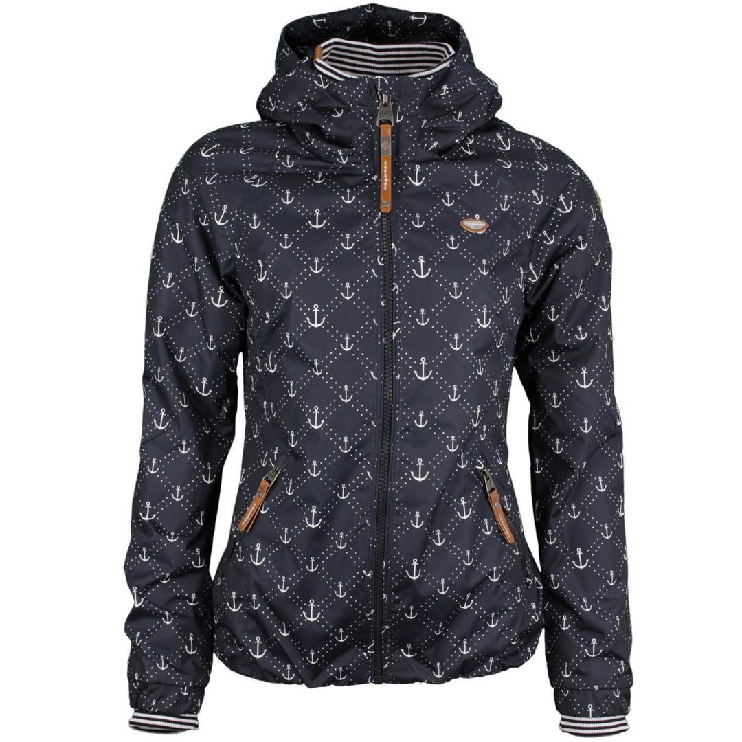 Ragwear Damen Sommer Jacke blau Anker Muster Dizzie Marina 2111 60008 2028 Navy