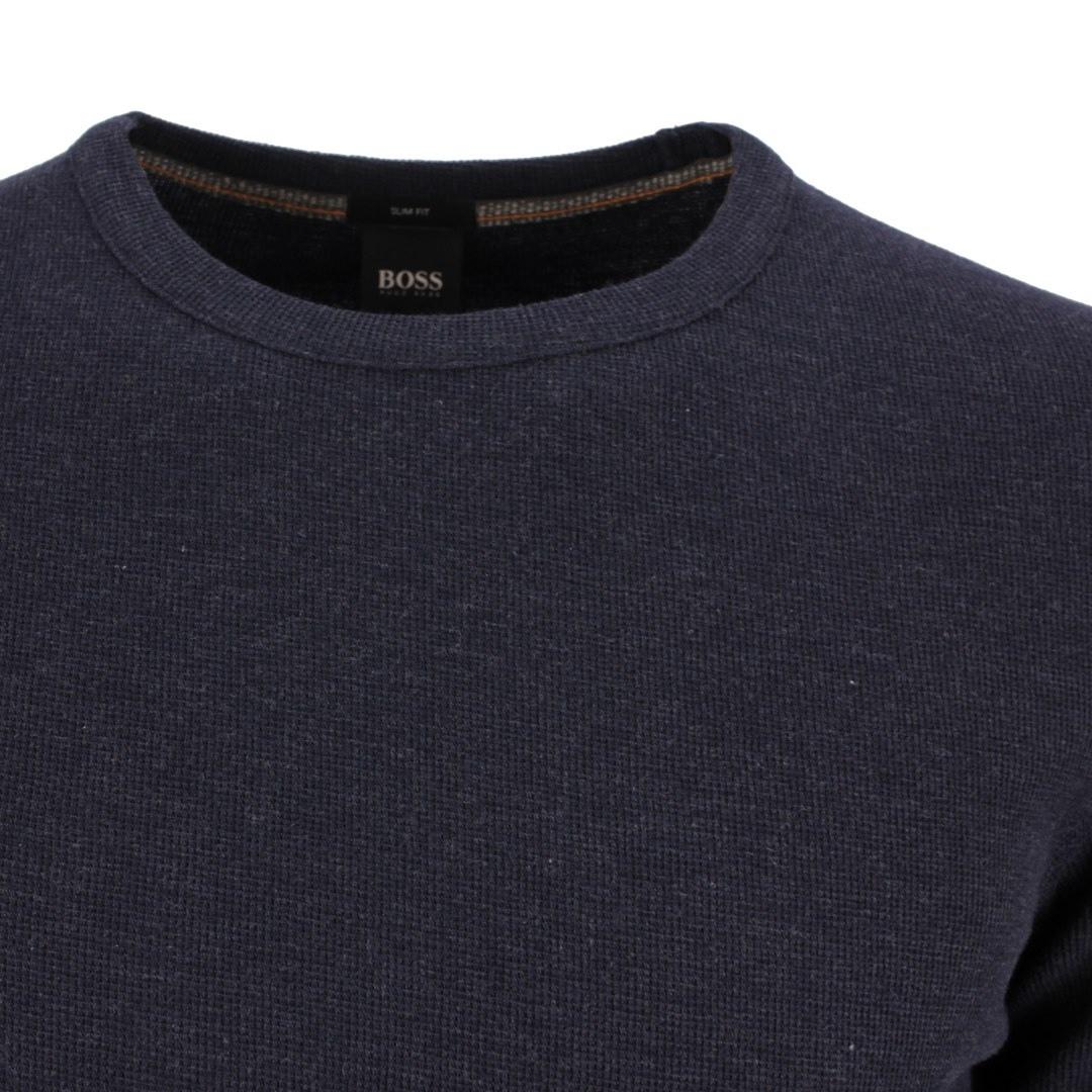Hugo Boss Langarm Shirt Langarmshirt Strickshirt 50462773 404 dark blue Tempest