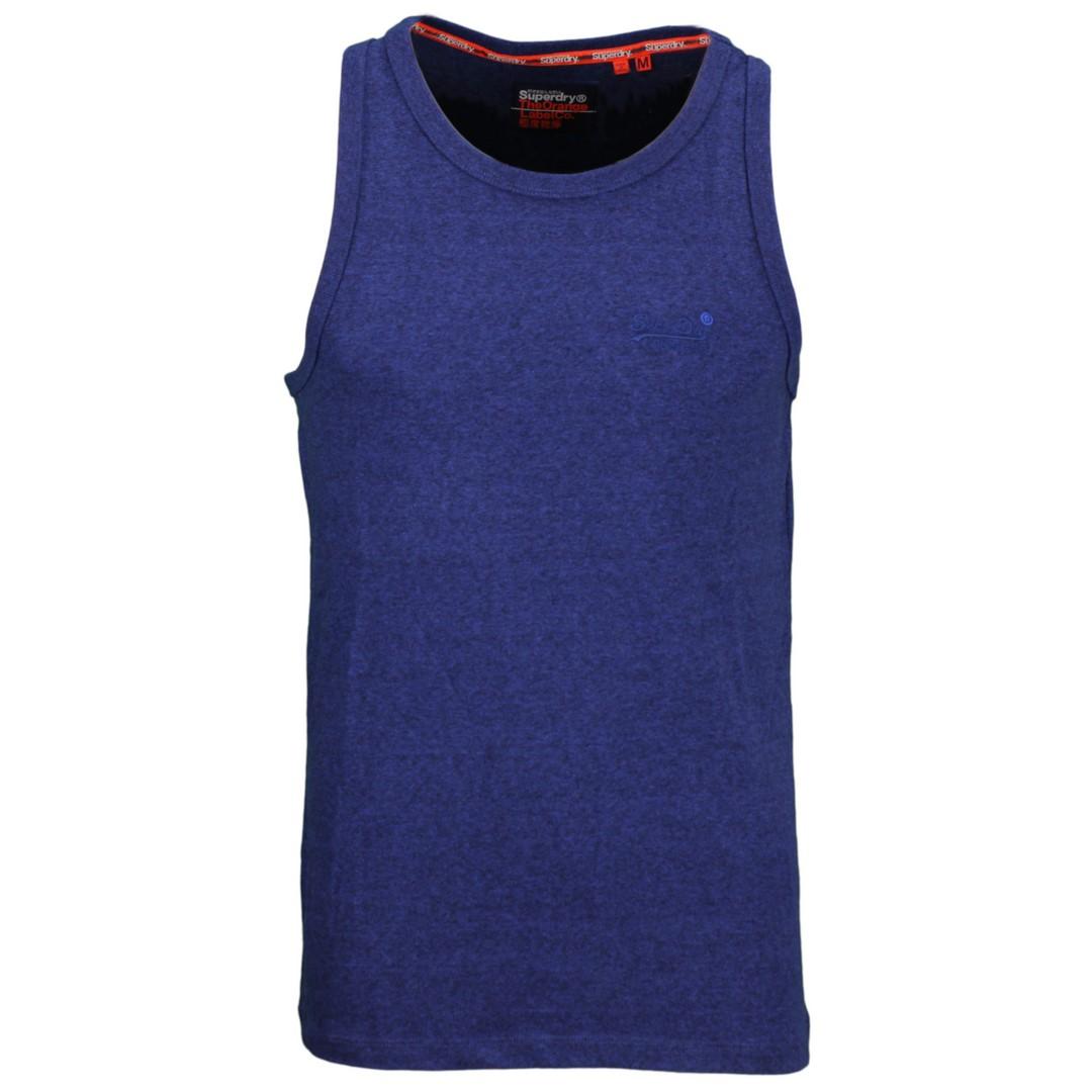 Superdry Herren Tank Top Oil Embroidery blau M6010071A 3FN vivid cobalt grit