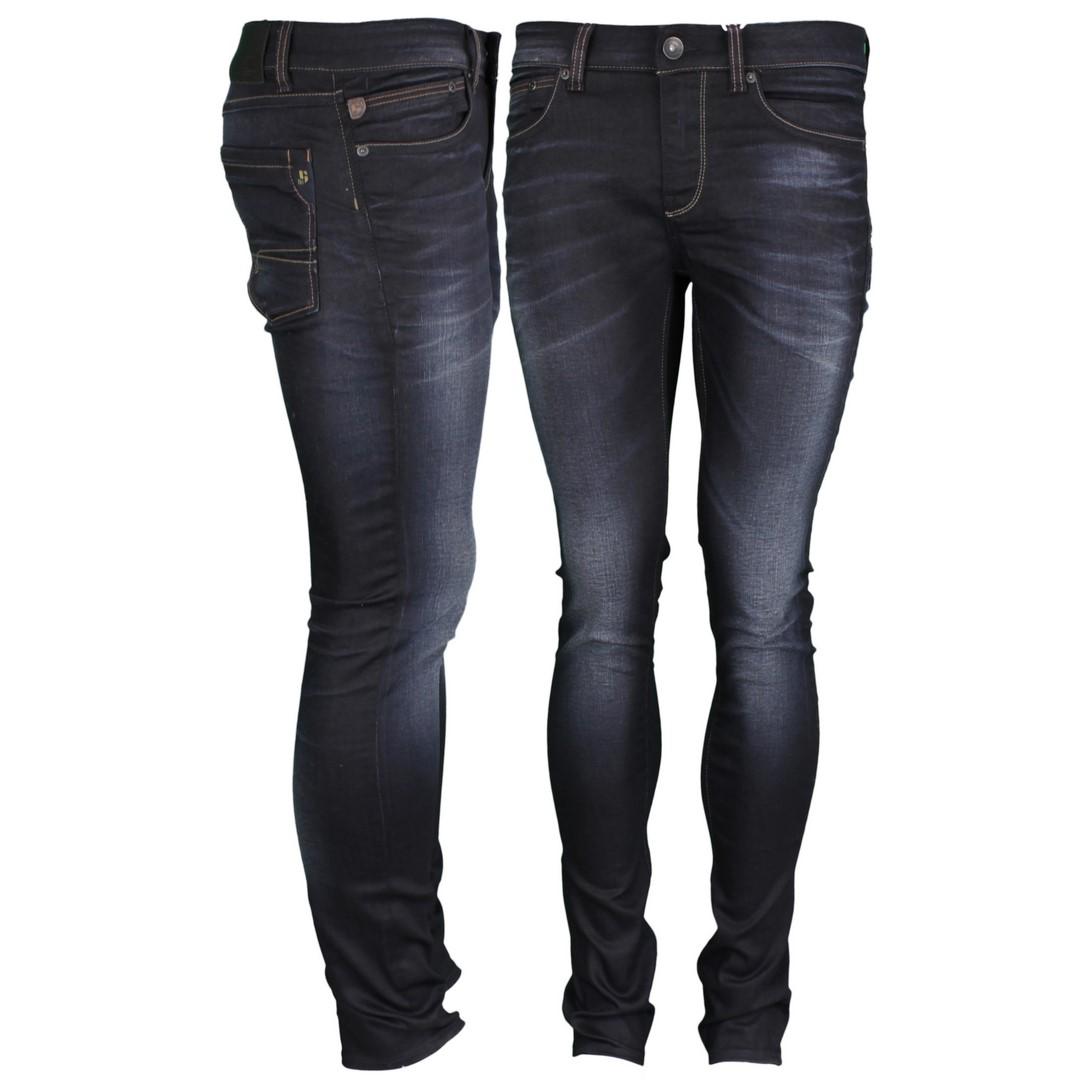 Garcia Jeans Hose Slim Fit dunkel blau Used Look Fermo 650 2501