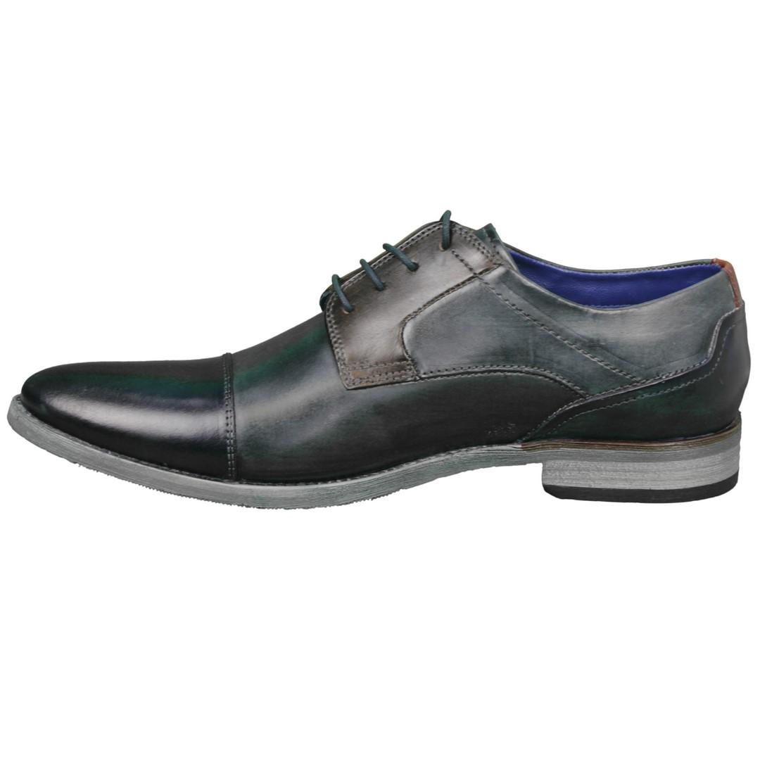 Bugatti Herren Schuhe Schnürschuhe blau grau 312164112121 4115  blue grey