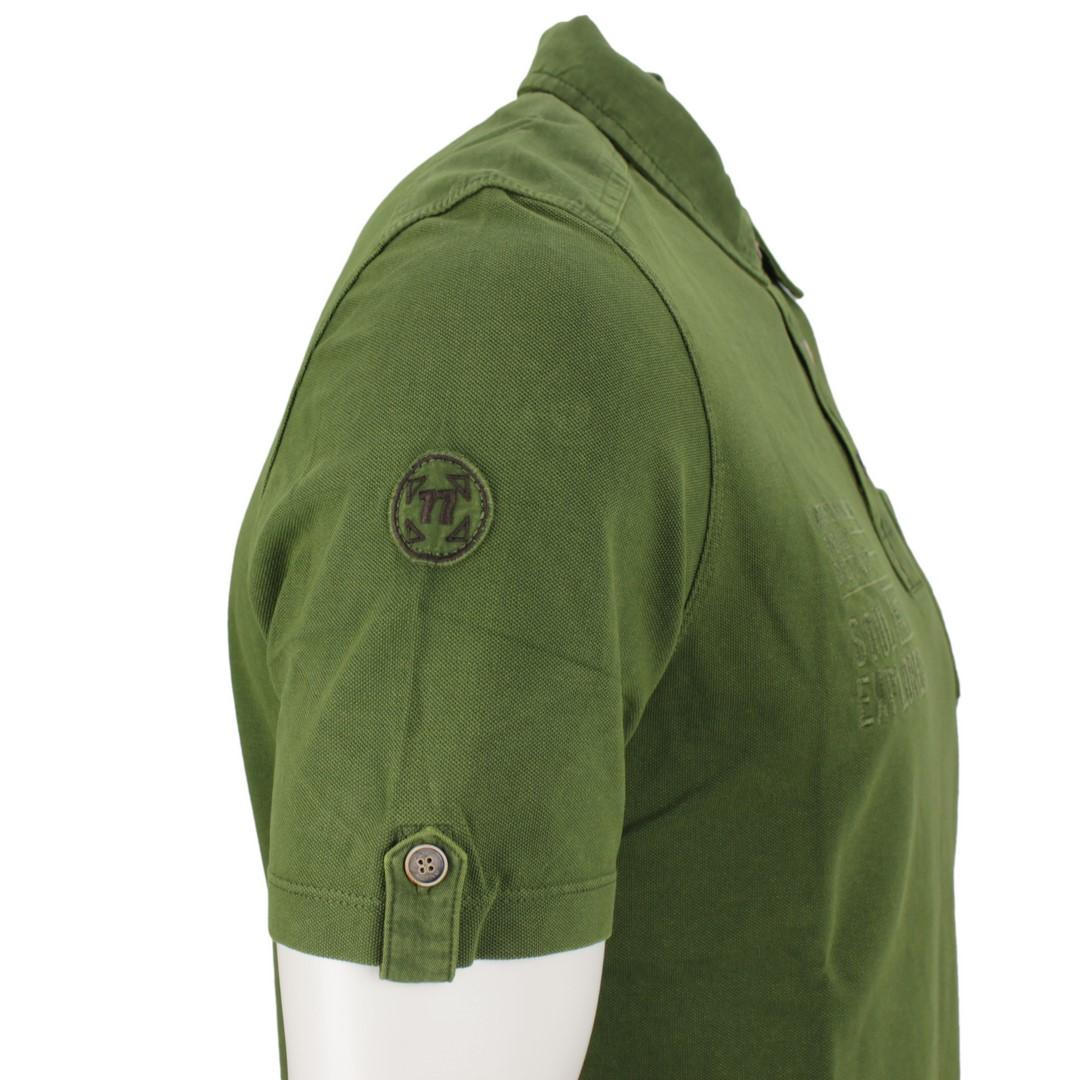 Camel active Herren Polo Shirt grün unifarben 3P25 409473 76