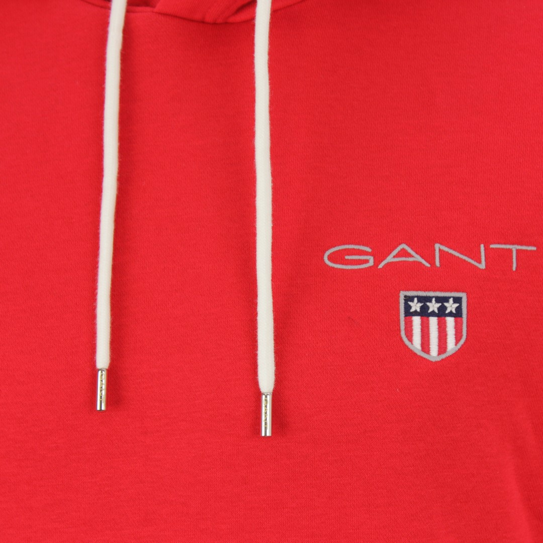 Gant Herren Kapuzen Sweat Pullover Medium Shield Hoodie rot 2057003 620