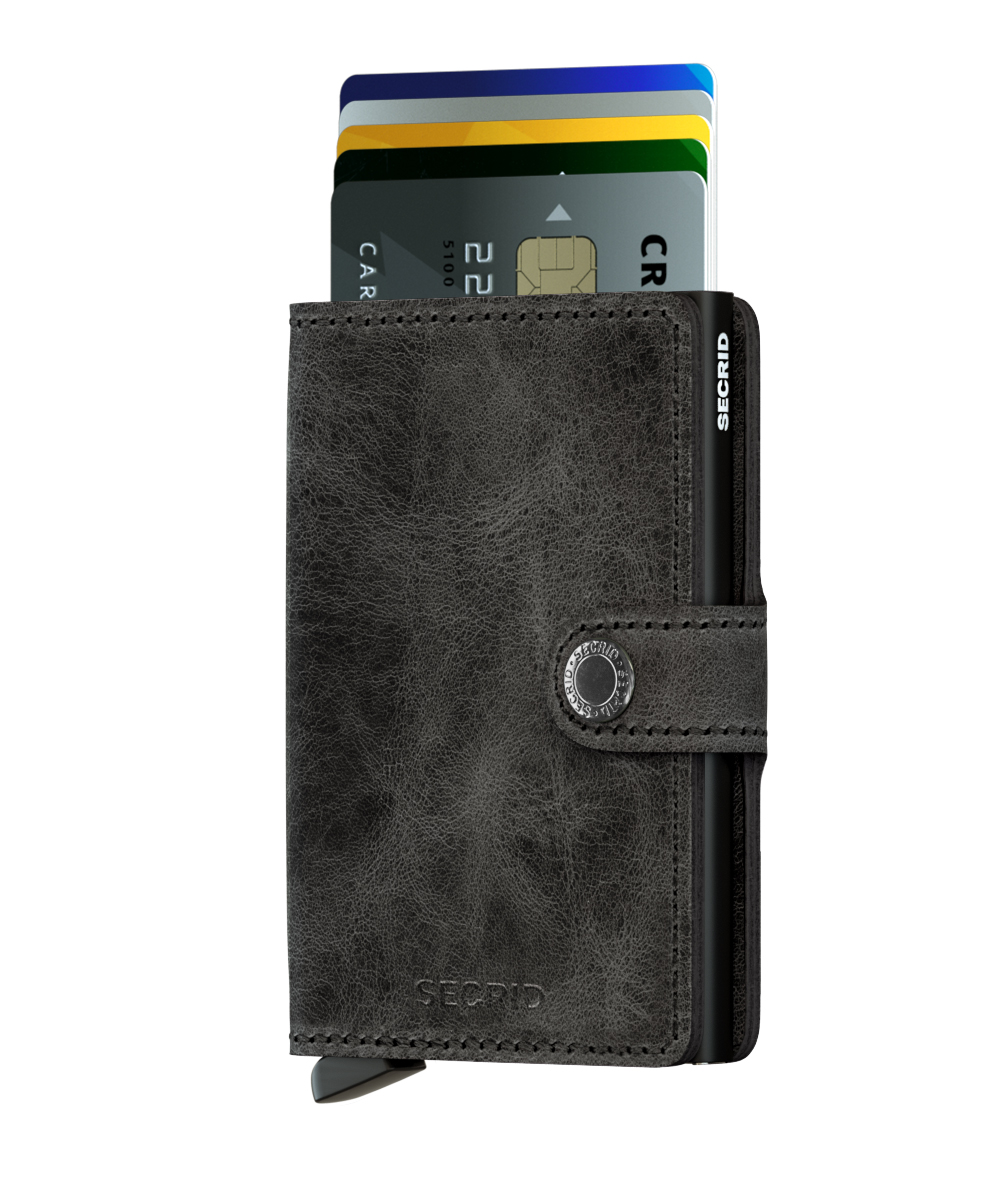 Secrid Miniwallet  Vintage Black Portmonnaie schwarz