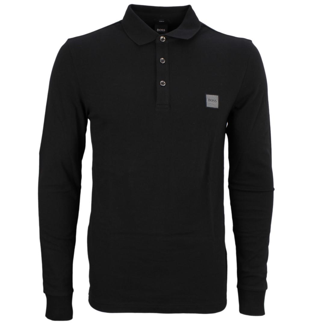 BOSS Hugo Boss Rugby Shirt schwarz Passerby 50387465 001 black