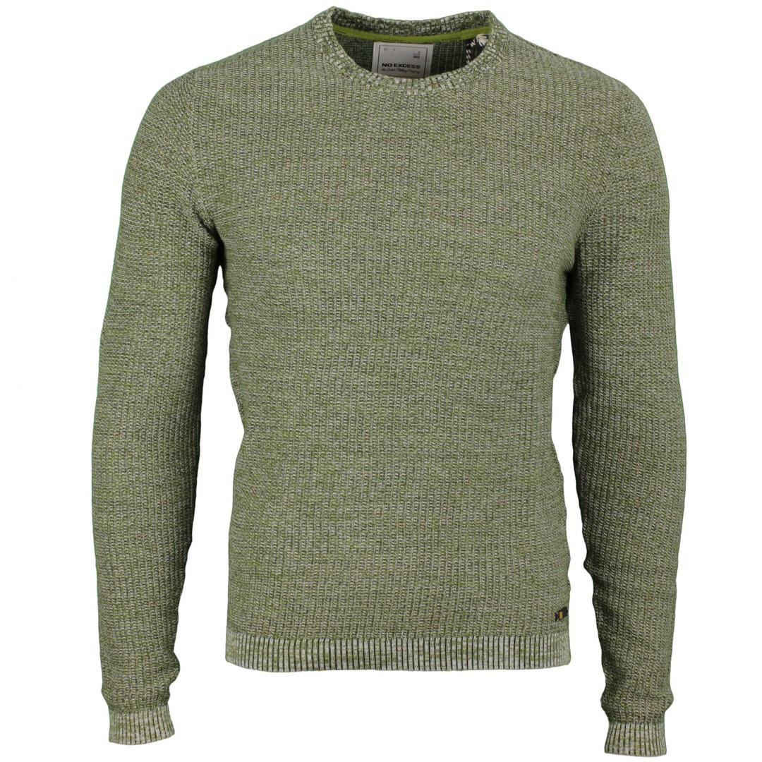 No Excess Herren Strick Pullover grün 94231115 152 Moss