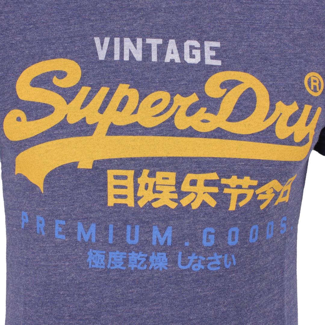 Superdry Herren T-Shirt Vintage Logo Tri T-Shirt blau M1011003A 97T navy marl