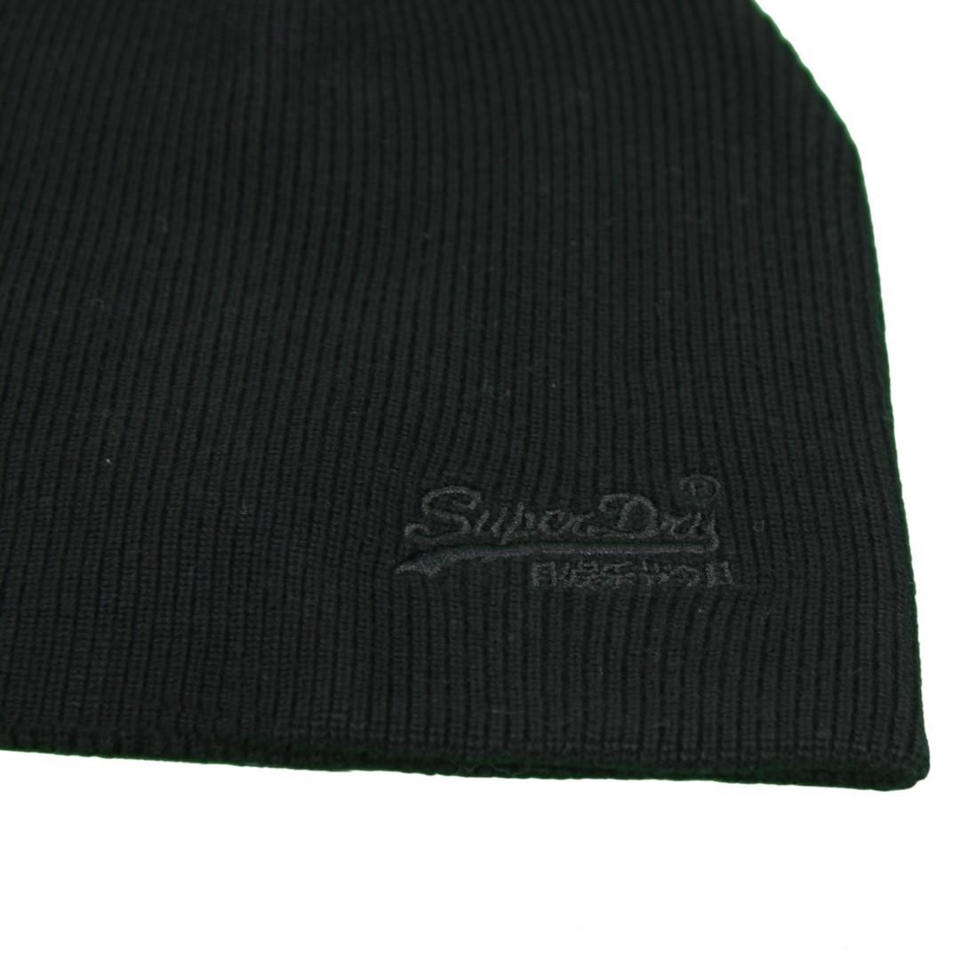Superdry Strick Mütze Orange Label Beanie schwarz M9010035A 02A black