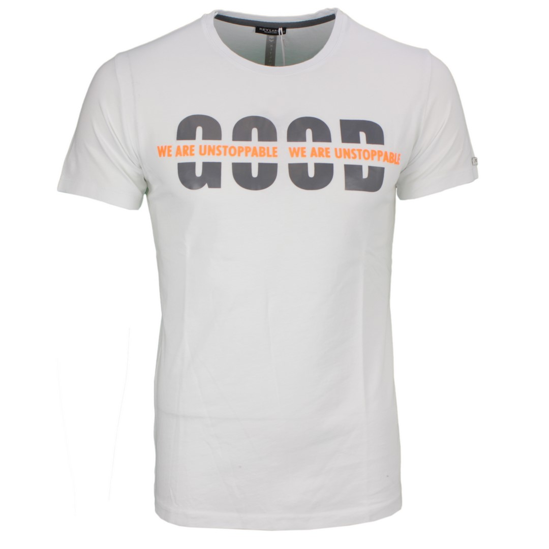 Key Largo Herren T-Shirt Druck weiß MT GOOD white