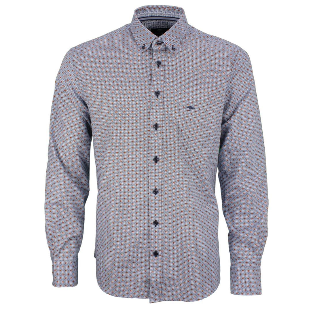 Fynch Hatton Freizeit Hemd mehrfarbig Minimal Muster 112208070 8071 toscana