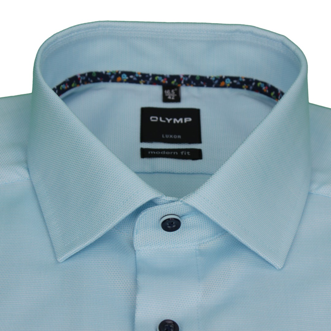 Olymp Herren Luxor Modern Fit Hemd blau unifarben 1205 54 43