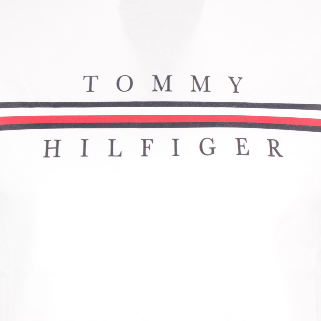 Tommy Hilfiger Herren T-Shirt Logo Druck weiß MW0MW12520 YBR