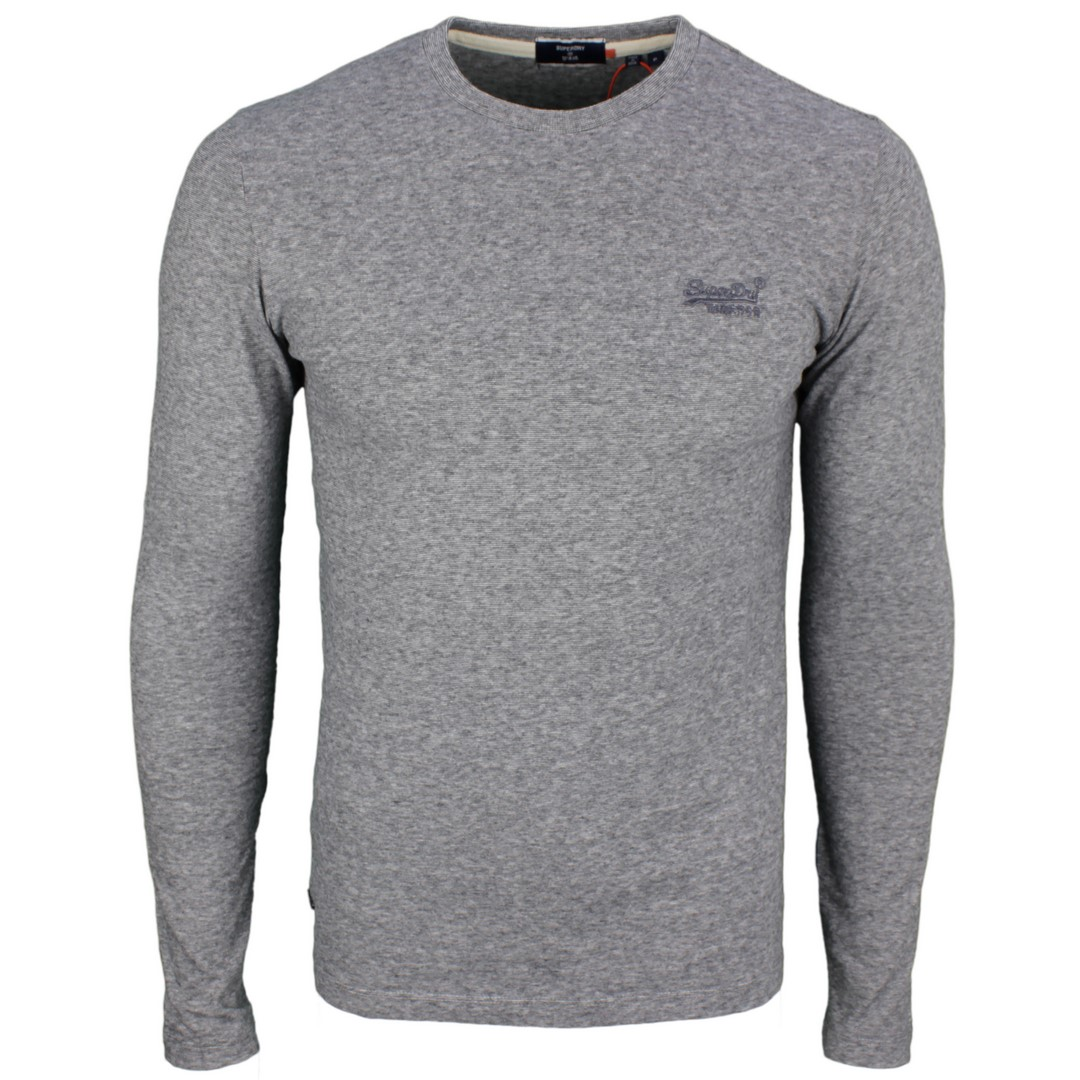Superdry langarm Shirt OL Vintage EMB Top dunkel grau M6010122A 4DS Stone Grey