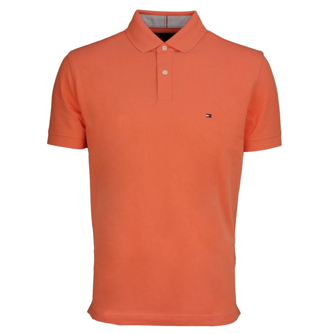 Tommy Hilfiger 1985 Regular Polo Shirt orange MW0MW17770 SO2 Summer Sunset