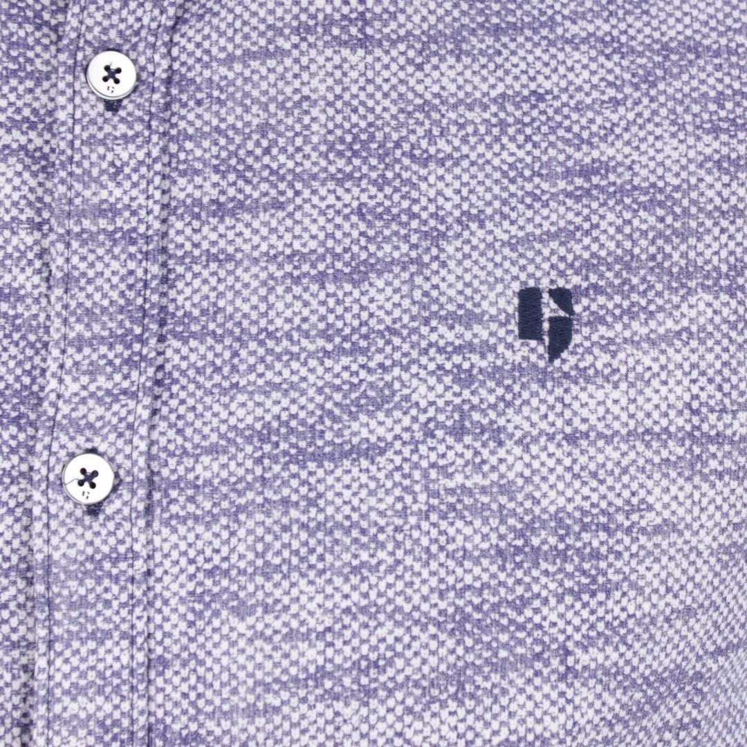 Garcia Herren Freizeit Hemd blau gemustert B91231 70 marine