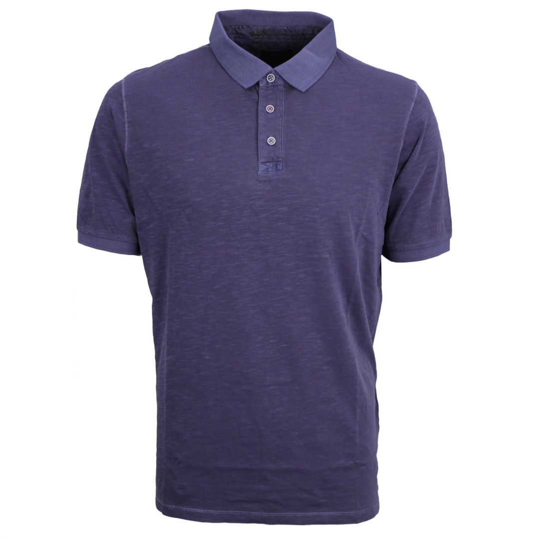 Fynch Hatton Herren Polo Shirt marine blau meliert 11211740 685 navy
