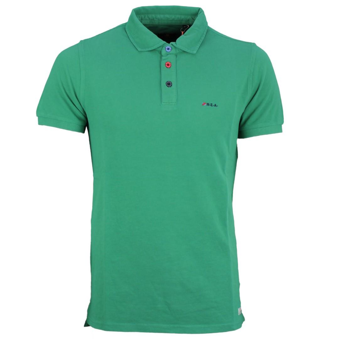 New Zealand Auckland NZA Polo Shirt grün unifarben 20CN150 493 green