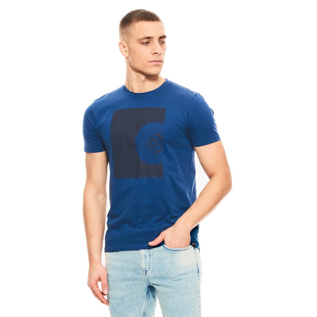 Garcia Herren T-Shirt Shirt kurzarm Print blau schwarz D11201 6632 imperial blue