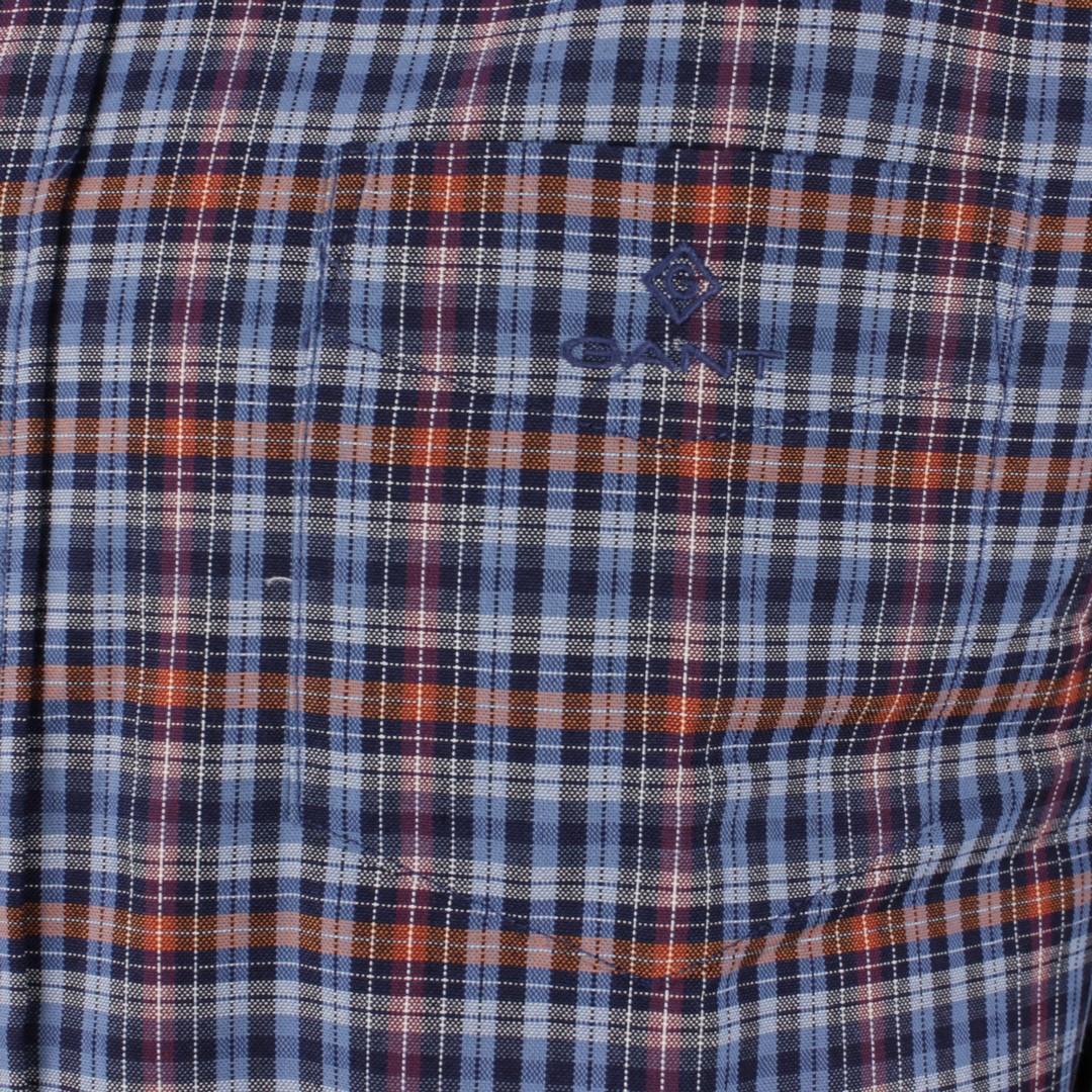 Gant Herren Freizeit Hemd Oxford Indigo mehrfarbig kariert 3016020 605 Port Red