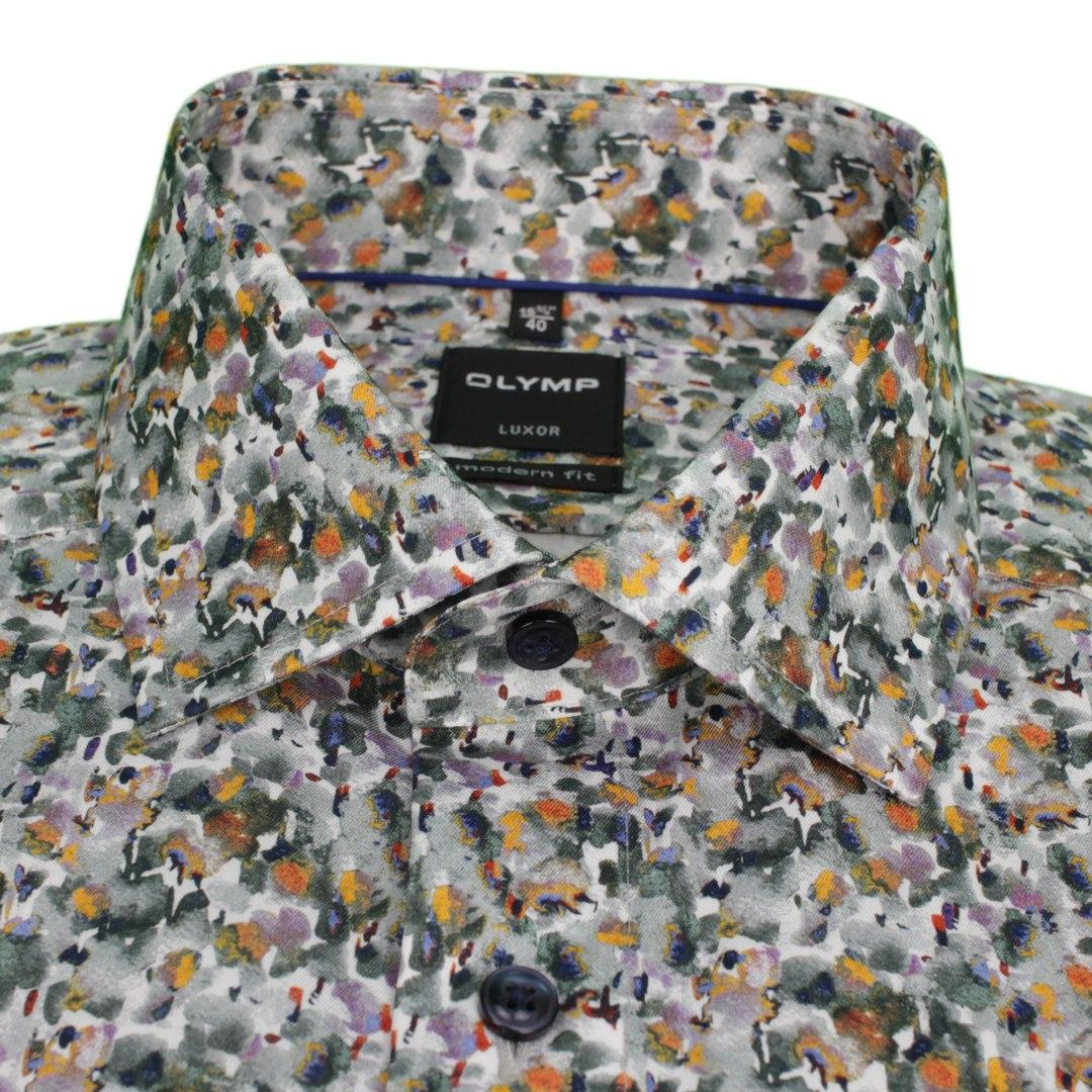 Olymp Luxor Hemd langarm Langarmhemd Businesshemd Modern fit Green Choice 128284 24