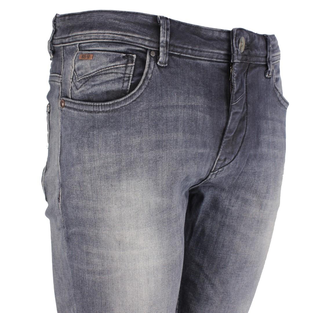 No Excess Herren Jeans Hose Jeanshose Stone Washed Slim Fit Denim grau blau N711D47 224