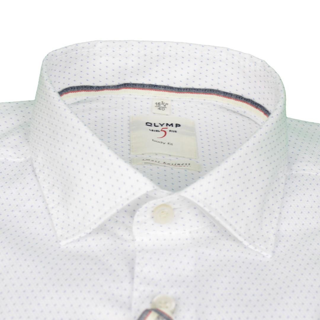 Olymp Herren Level Five Smart Business Body Fit weiß Minimal Muster 3516 34 00