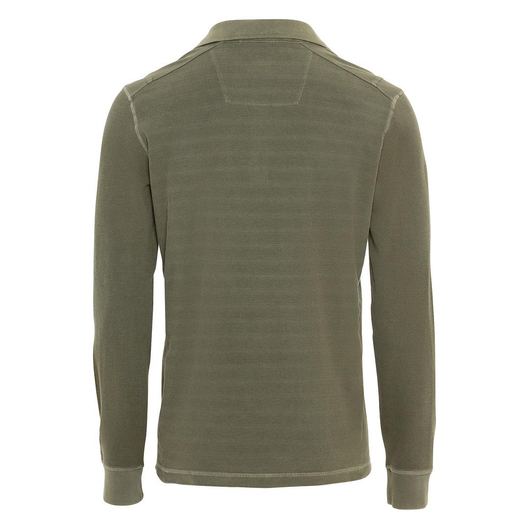 Camel active Rugby Shirt langarm Poloshirt grün 6P01409361 93 Olive Brown