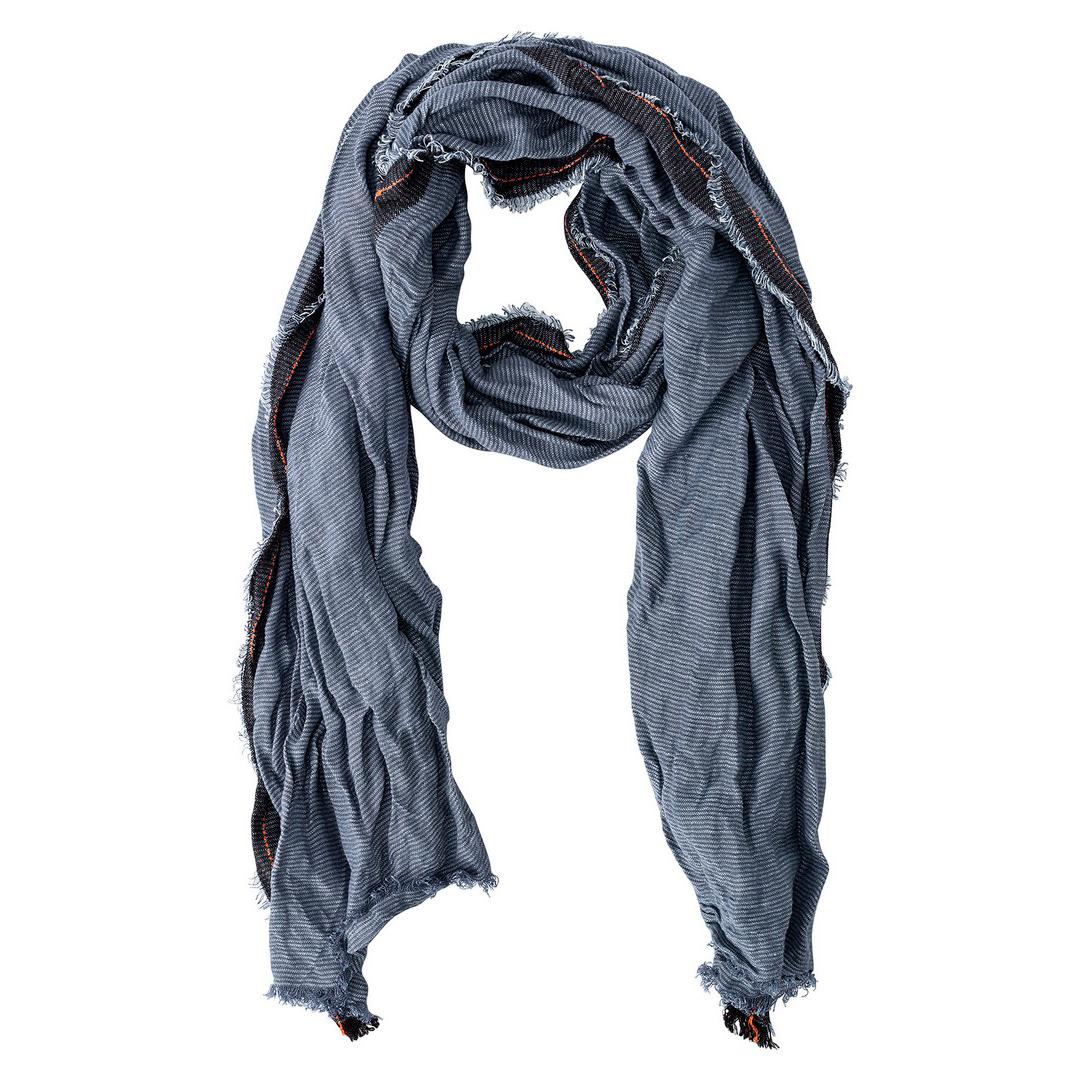 Camel active Schal Tuch blau gemustert Doubleface Optik 5V13407130 46