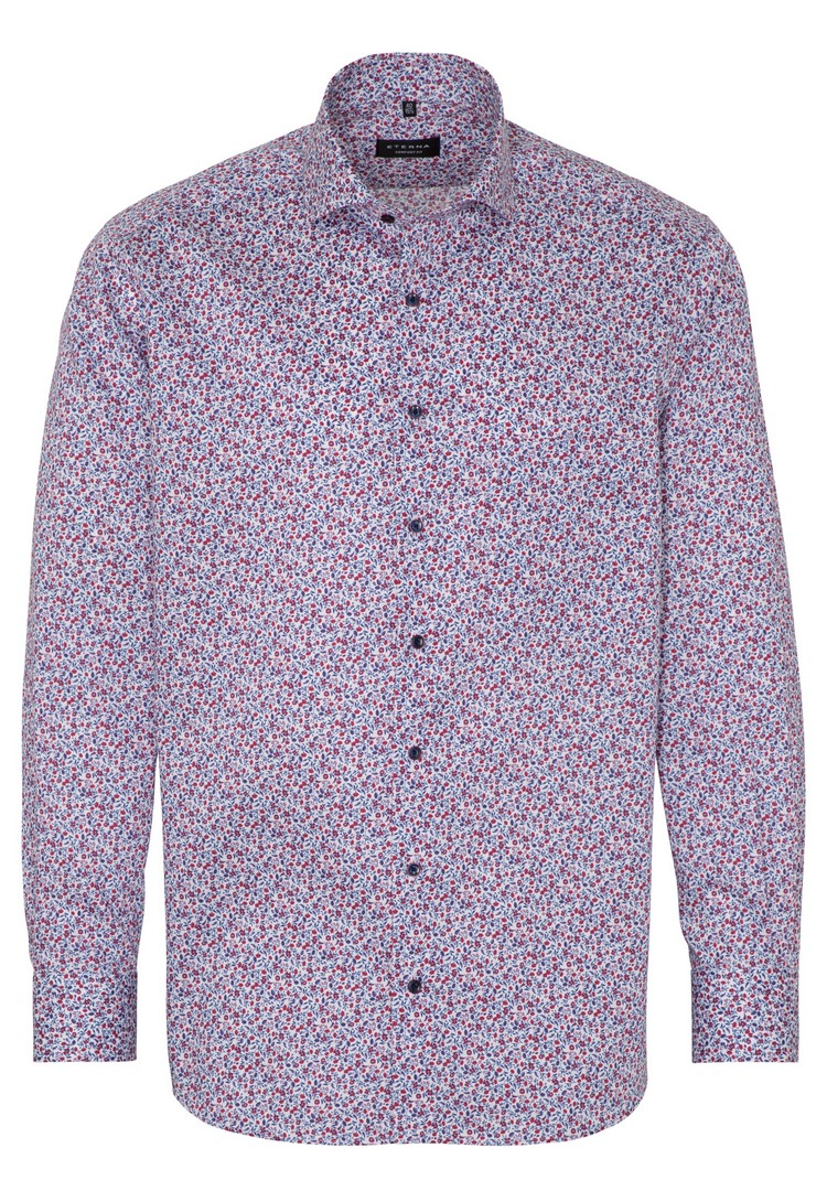 Eterna Comfort Hemd mehrfarbig geblümt 3423 E18V 55