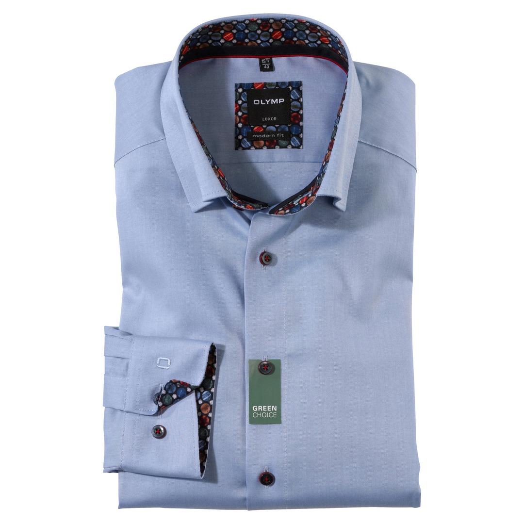 Olymp Luxor Modern Fit Langarmhemd Hemd Business blau unifarben  132684 12 ozon